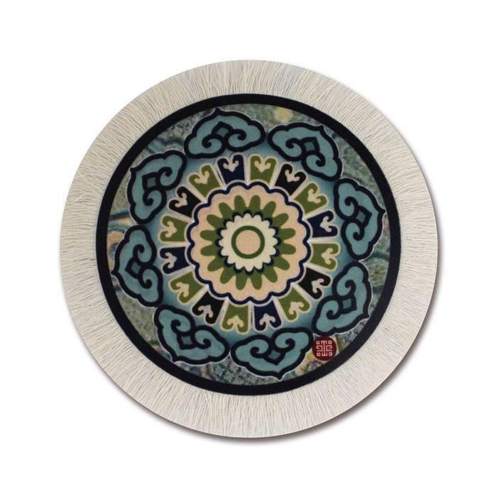 故宮精品|國寶圓墊-如意天華