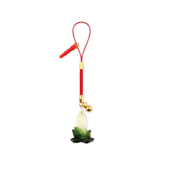 (複製)故宮精品|夜光翠玉白菜鑰匙圈