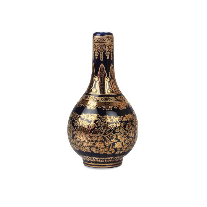 (複製)故宮精品|黃地錦上添花紙槌瓶