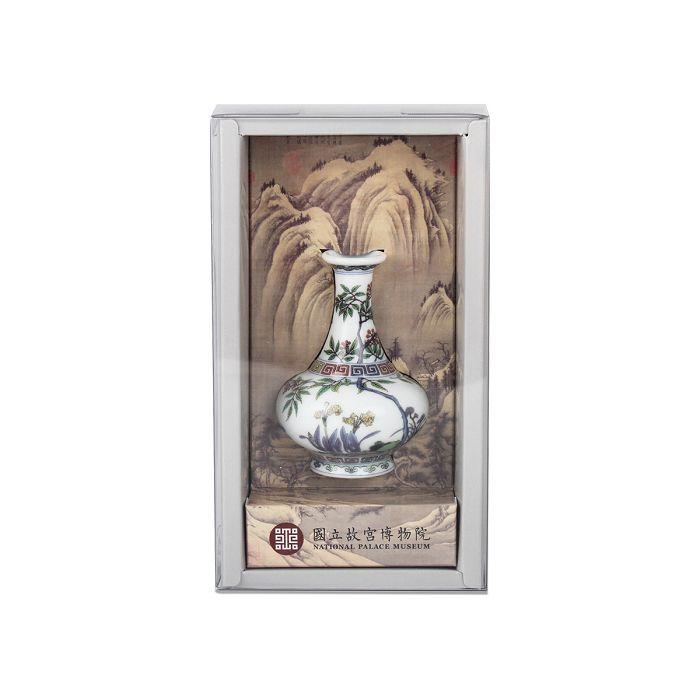 (複製)故宮精品|金番花藍地膽瓶