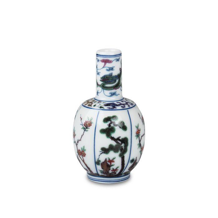 (複製)故宮精品|青花粉彩花卉瓶
