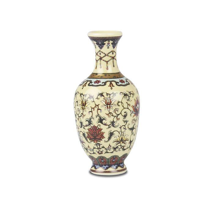 (複製)故宮精品|鬥彩花卉瓜稜瓶