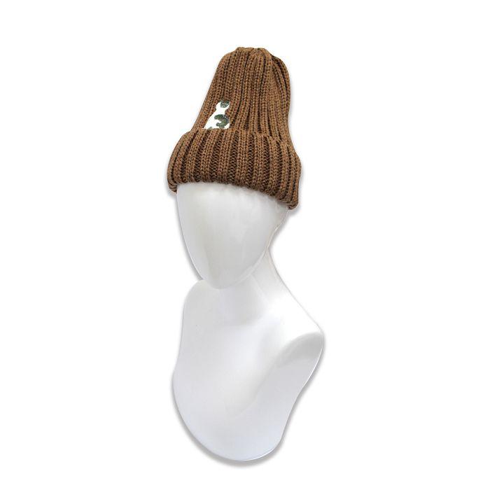 故宮精品 耄耋同春菊葵毛帽-棕
