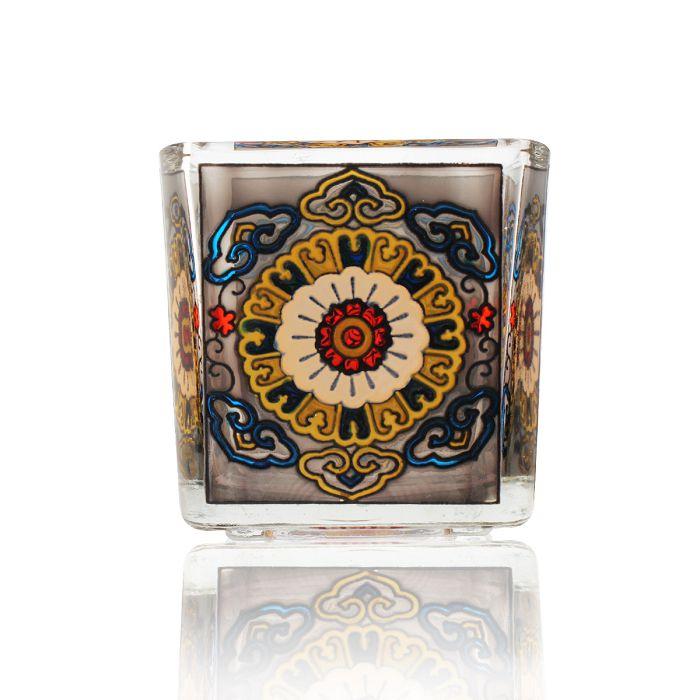 (複製)故宮精品 | 毬路龍紋手繪玻璃燭台