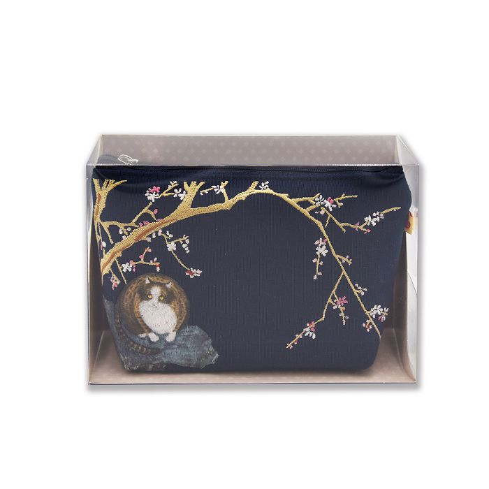 (複製)故宮精品 | 故宮紅梅貓化妝包(翠綠)