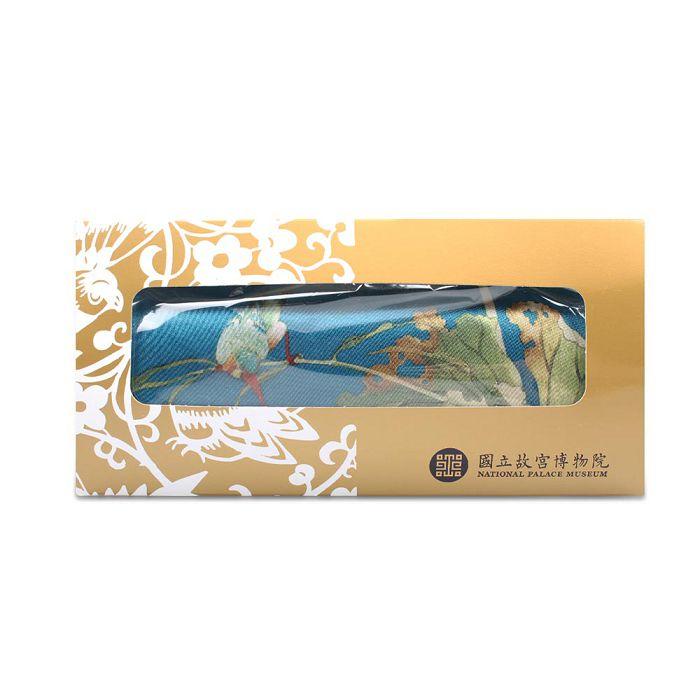 (複製)故宮精品 | 白玉簪絲巾緞 (金黃)