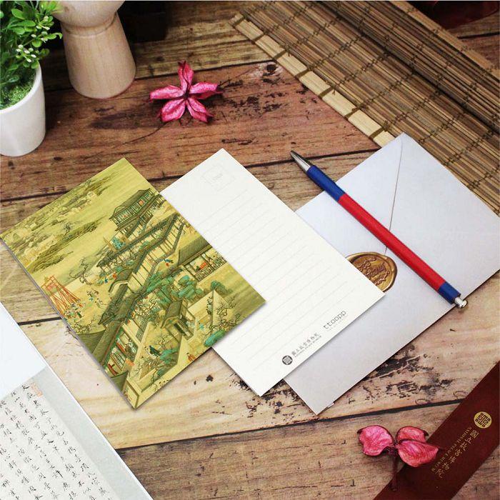 (複製)故宮精品   明信片-萬壽無疆 壽徵海晏花卉