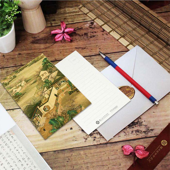 (複製)故宮精品 | 明信片-十二月月令圖 一月