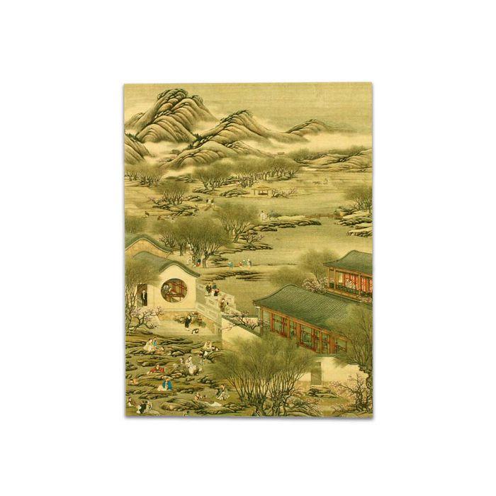 (複製)故宮精品 | 明信片-十二月月令圖 二月