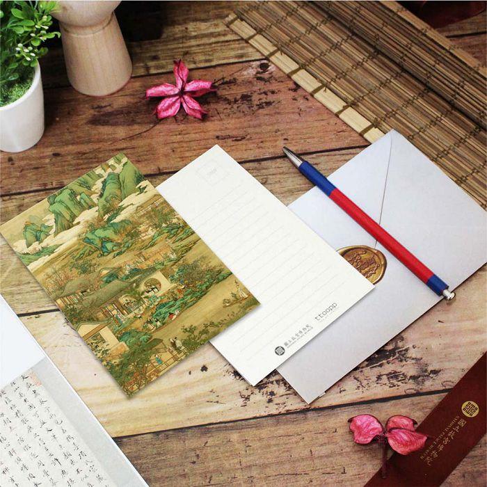 (複製)故宮精品 | 明信片-十二月月令圖 八月