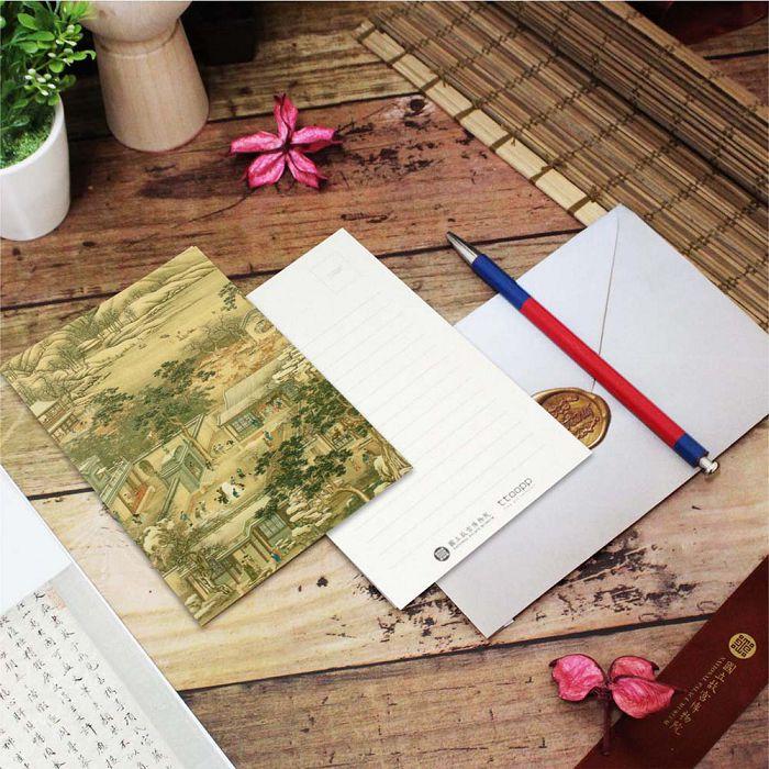 (複製)故宮精品 | 明信片-十二月月令圖 十月