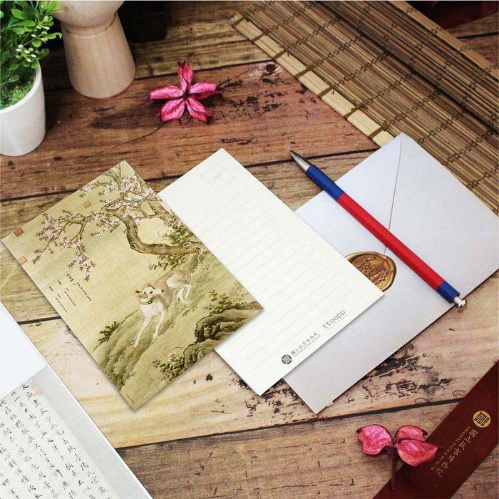 (複製)故宮精品 | 明信片-畫十駿犬驀空鵲