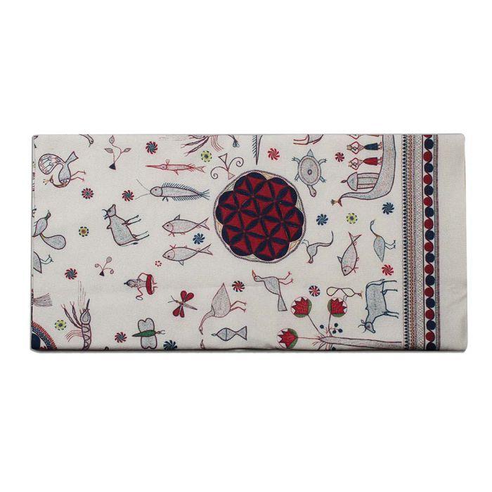 (複製)故宮精品   紗麗邊飾長絲巾圖紋