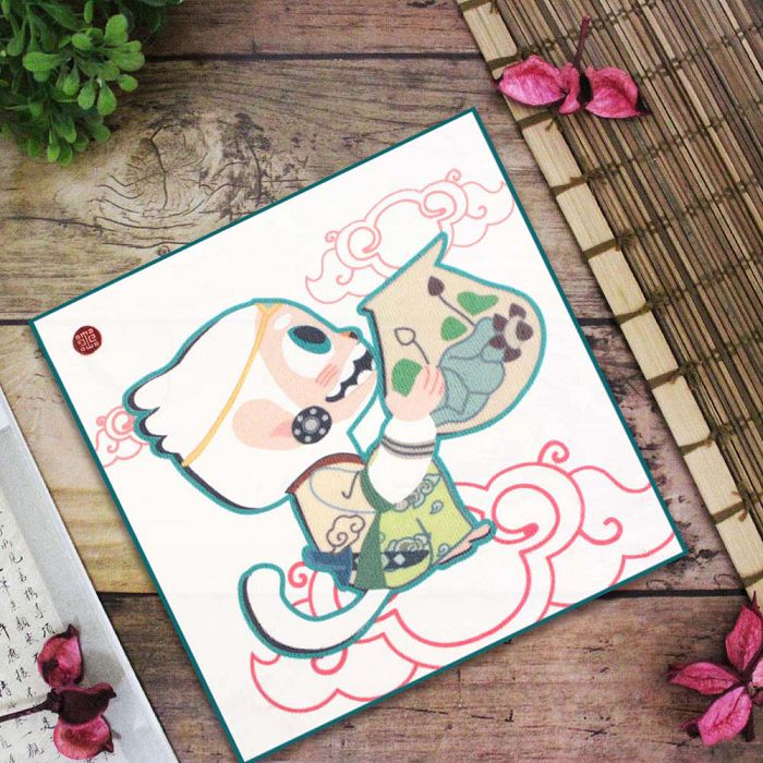 (複製)故宮精品 | 青花哈奴曼兒童方巾