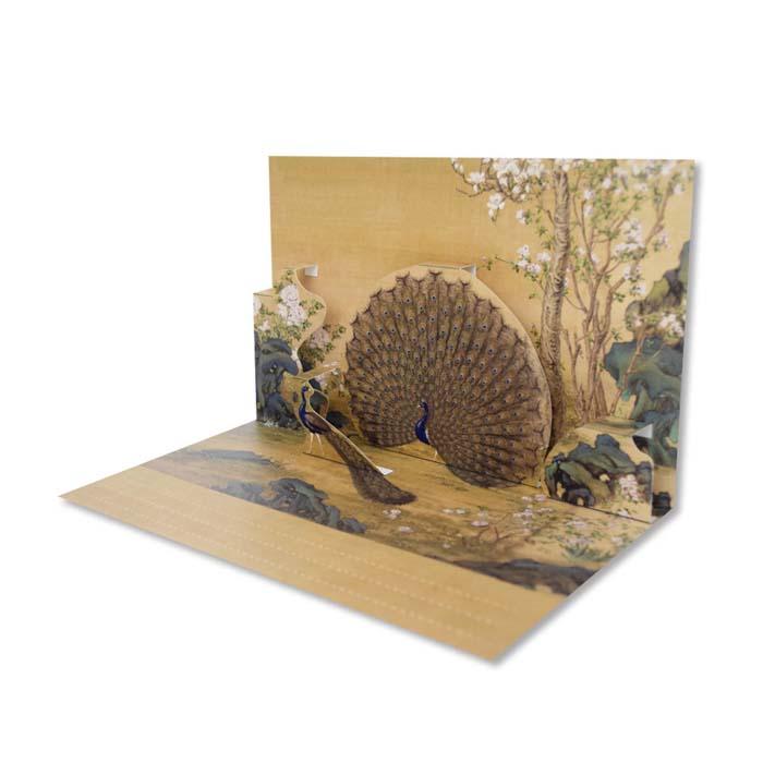 (複製)故宮精品 | 古畫裡的動物 DIY立體手作卡片 -清郎世寧 畫交阯果然