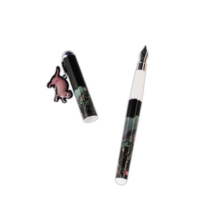 (複製)故宮精品   畫貓竹掛飾鋼筆
