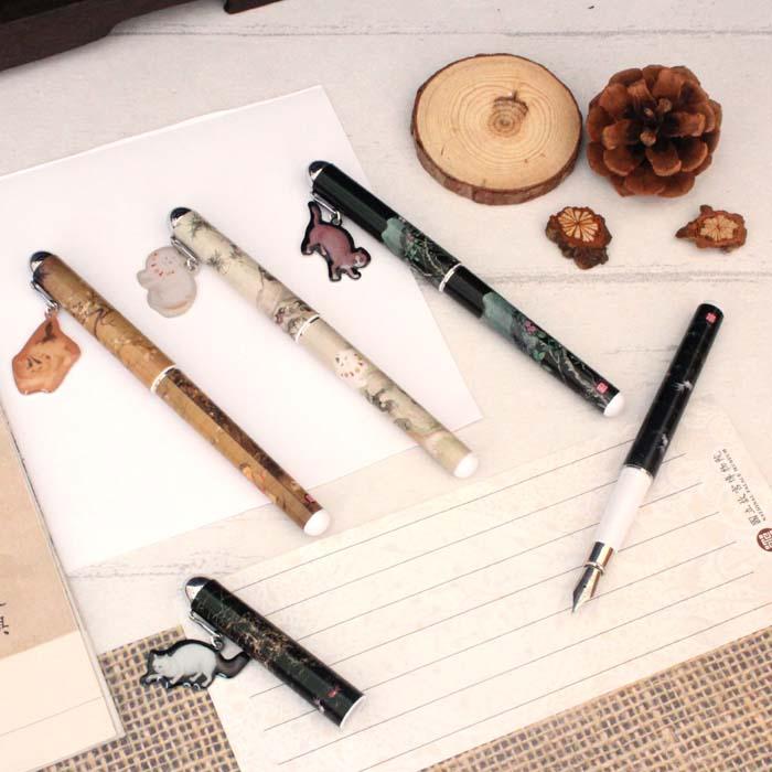(複製)故宮精品 | 水仙貍奴掛飾鋼筆