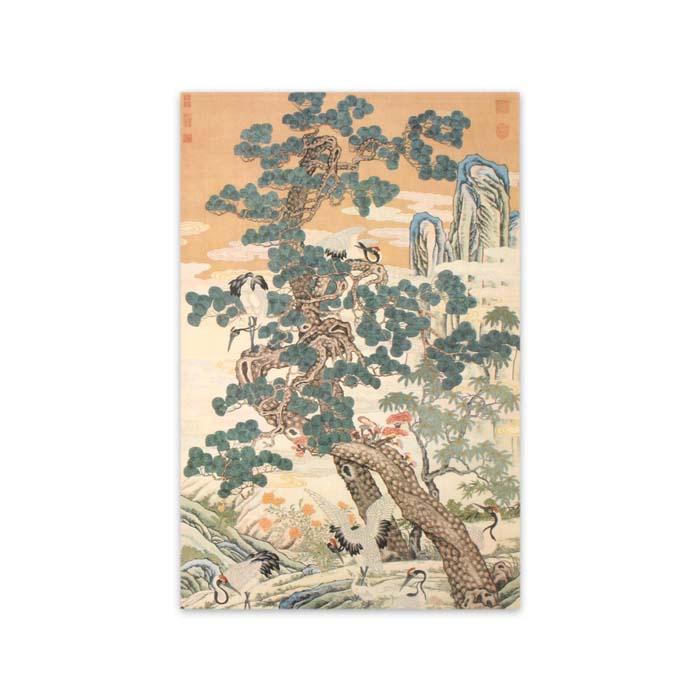 (複製)故宮精品 | 民國溥儒仕女圖軸明信片