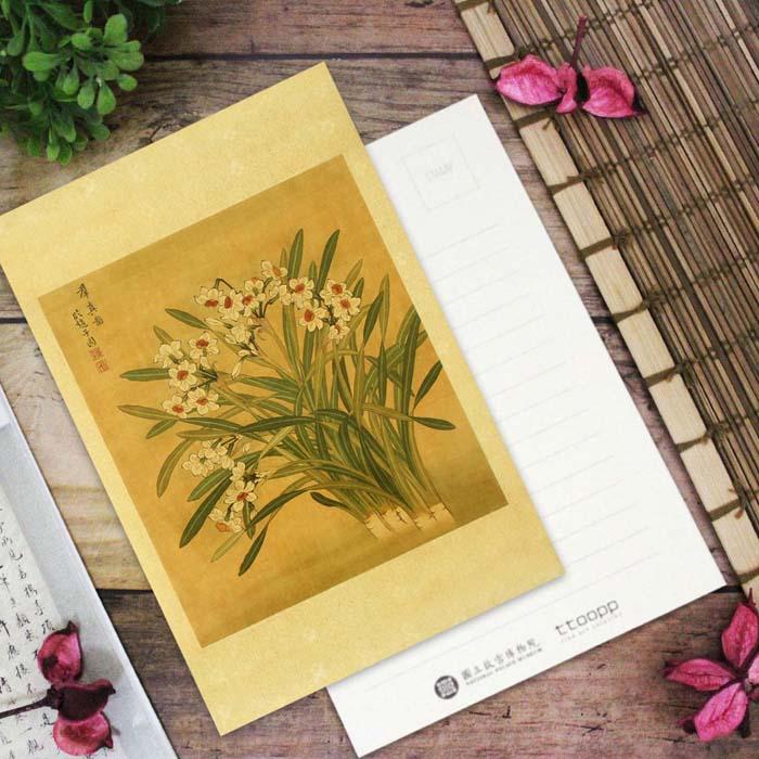 (複製)故宮精品 | 清張偉寫生花卉冊月季明信片