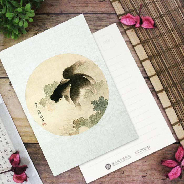 (複製)故宮精品 | 寫生花鳥冊荷蛙蜻蜓明信片