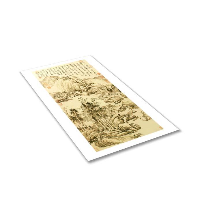 (複製)故宮精品 | 圖卡-清陳書歲朝吉祥如意軸(局部)