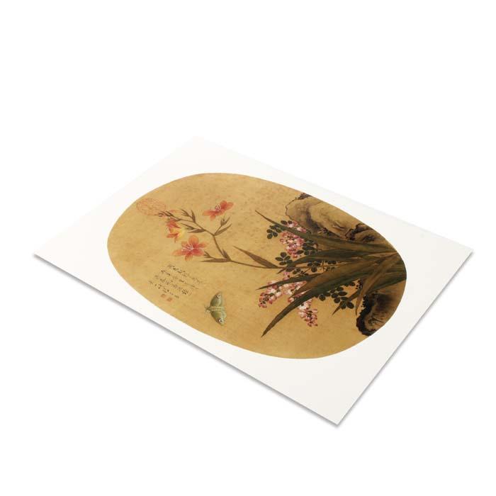 (複製)故宮精品 | 圖卡-畫花卉白薔薇