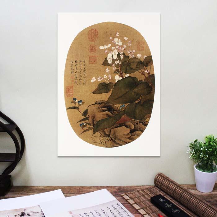 (複製)故宮精品 | 圖卡-畫花卉蝴蝶花遍地錦