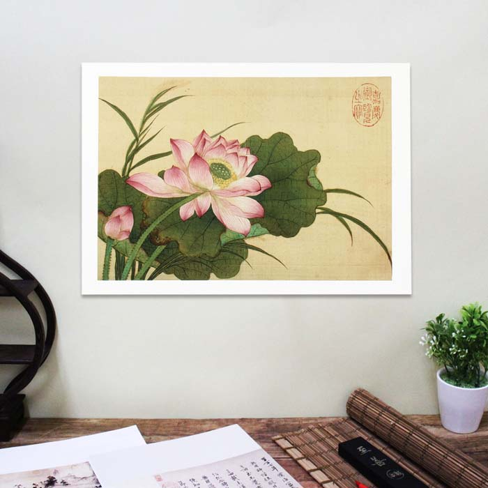 (複製)故宮精品 | 圖卡-畫花卉秋海棠淡竹葉