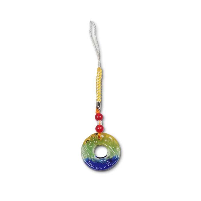 (複製)故宮精品   螭紋璧(水藍)吊飾