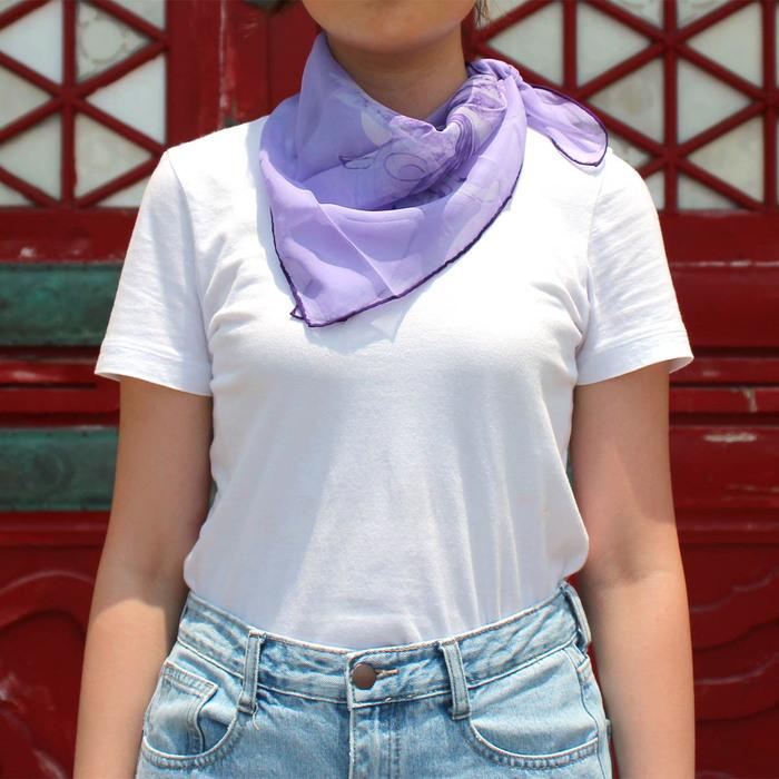 故宮精品 | 白玉簪絲巾紗 (紫)