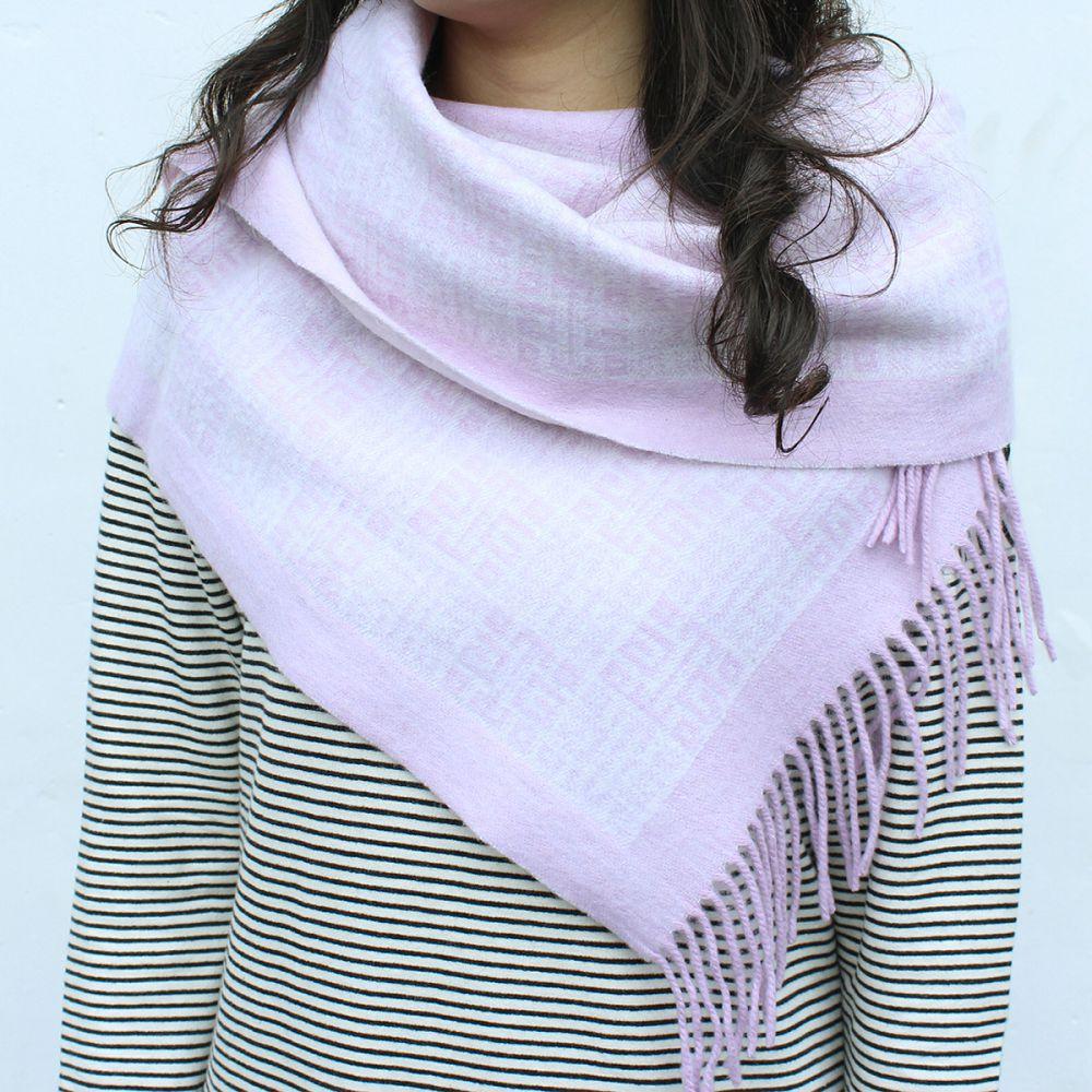 故宮精品|故宮經典LOGO羊毛圍巾(紫)
