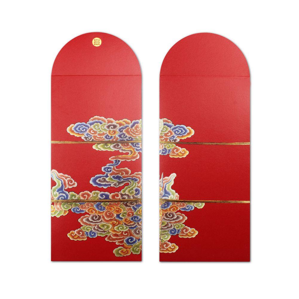 故宮精品|五彩雲紋穿帶紅包袋 (5入)