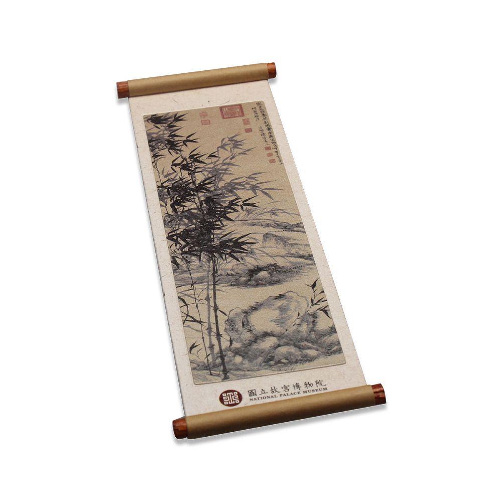故宮精品|合作蘭竹卷軸磁鐵