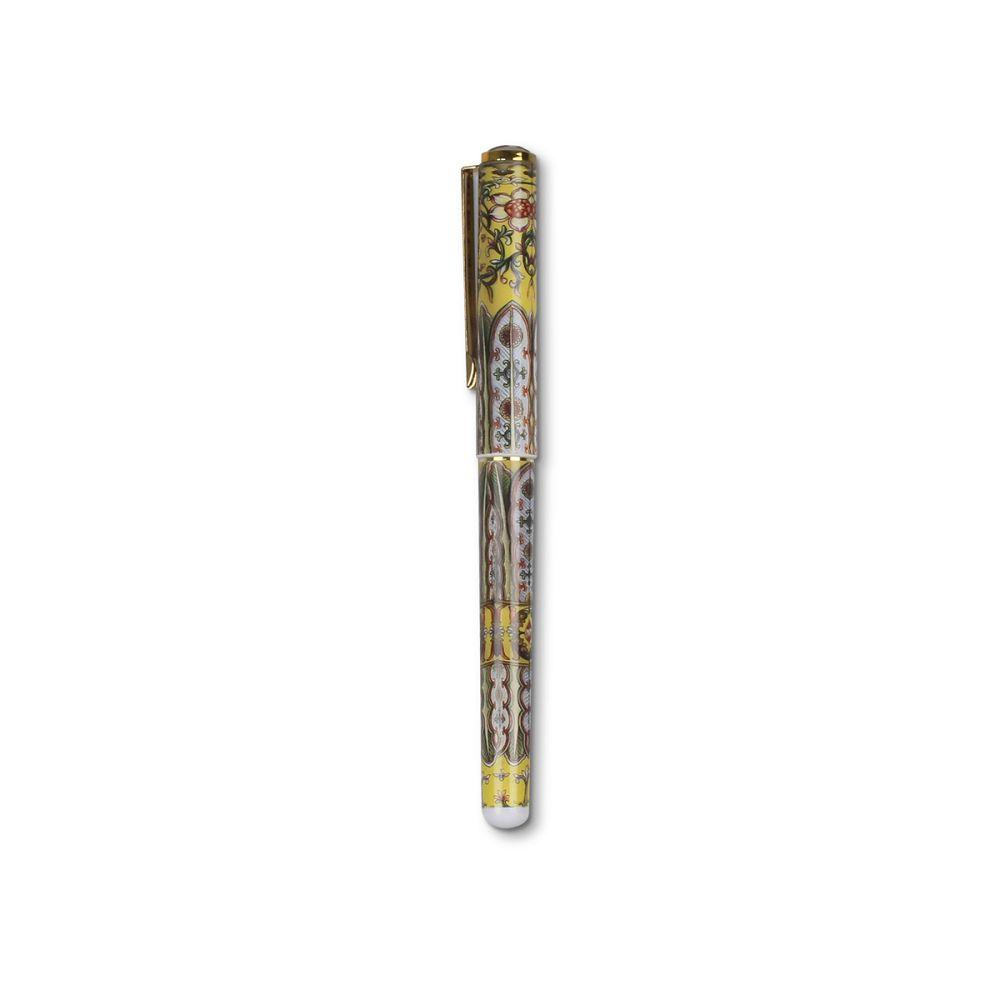 故宮精品|彩瓷鋼筆-黃葉紋