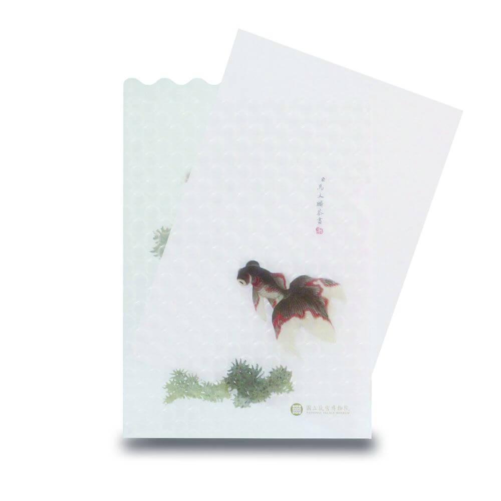 故宮精品|點飾成睛-L夾-雙子金魚