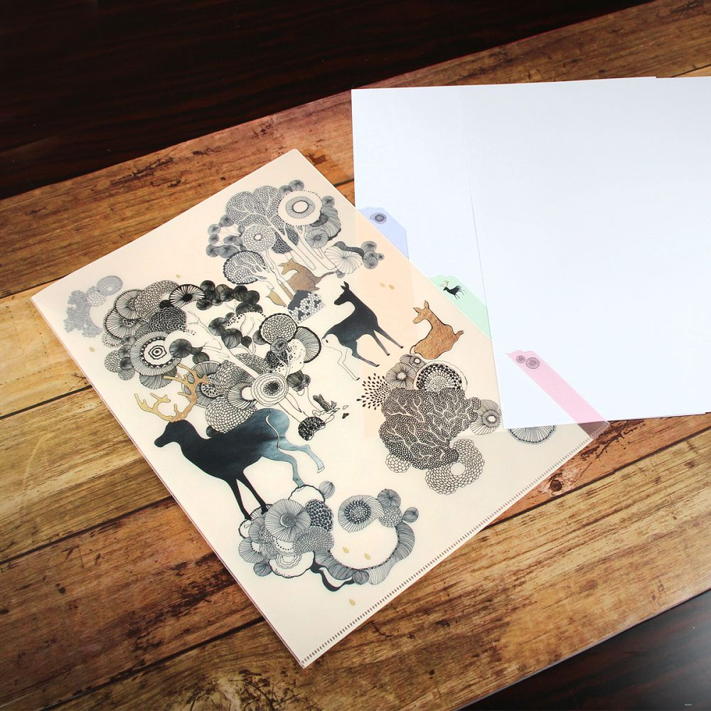 故宮精品|丹楓呦鹿三層文件夾
