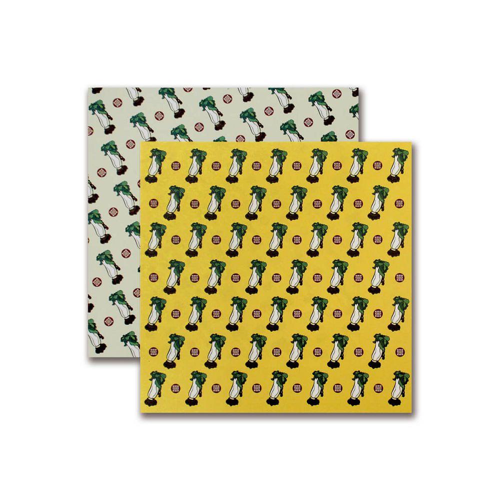 故宮精品|翠玉白菜色紙便條-黃