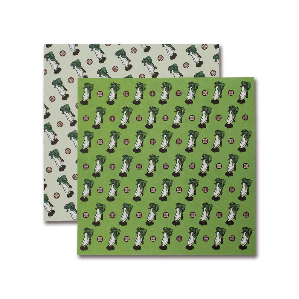 故宮精品 翠玉白菜色紙便條-綠