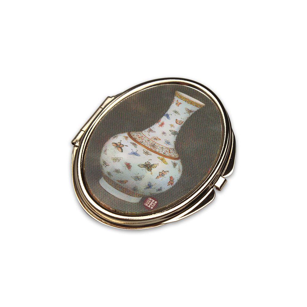 故宮精品 3D橢圓雙面鏡 百蝶瓶