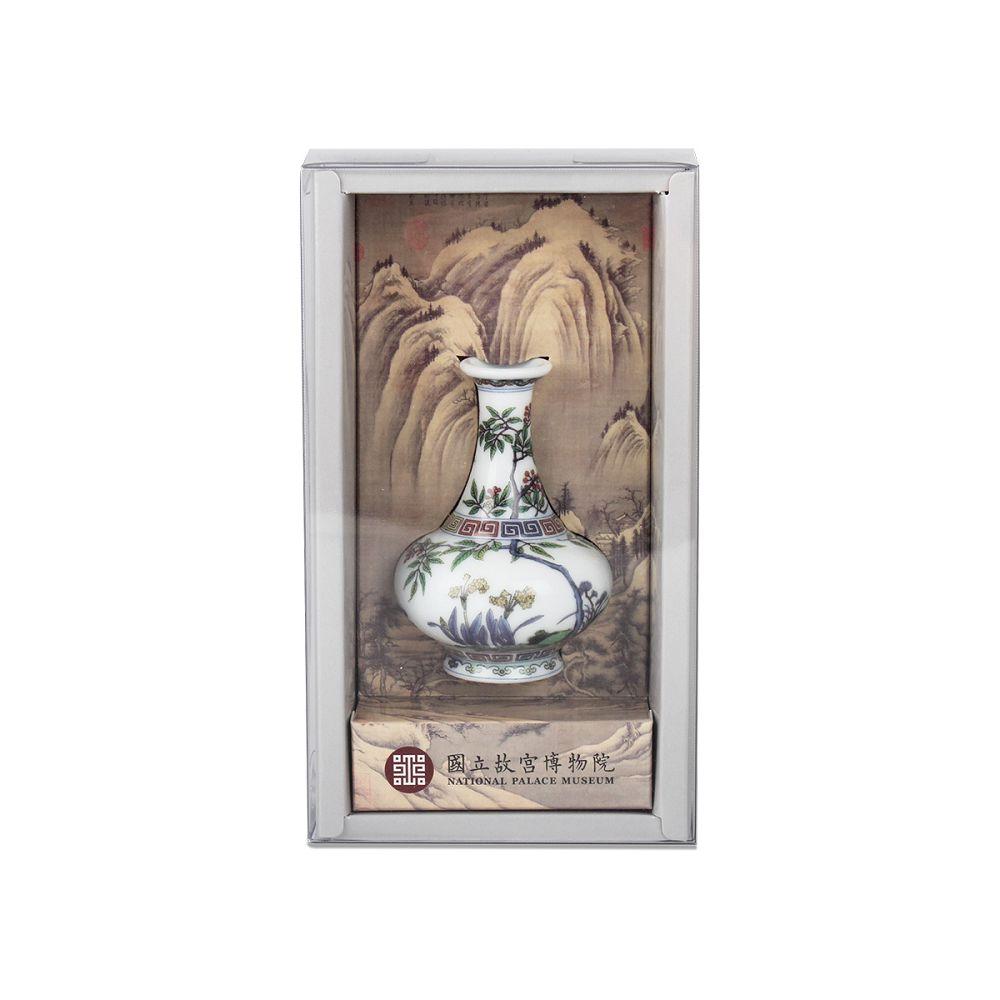 故宮精品|青花粉彩花卉瓶
