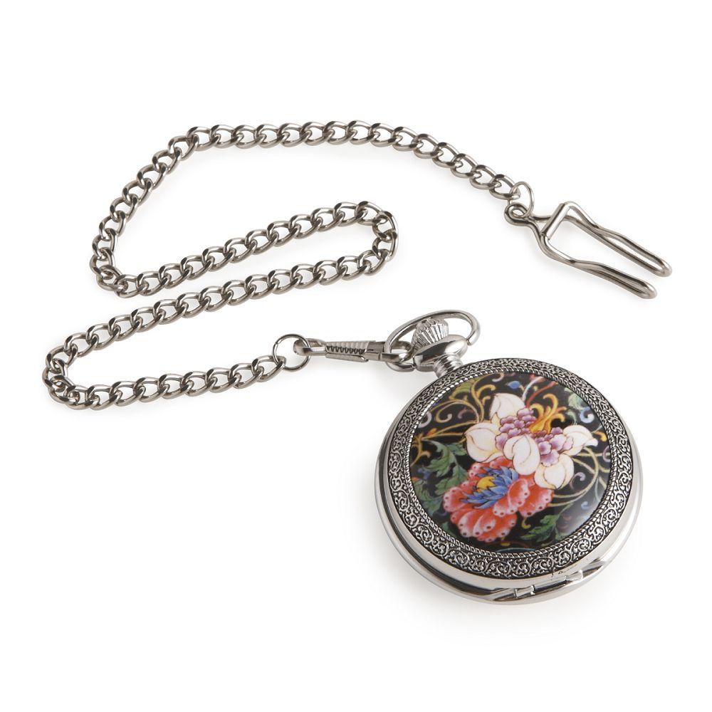 故宮精品|黑地花卉懷錶