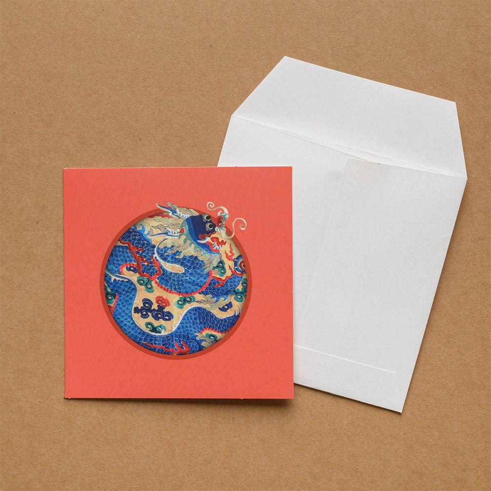 故宮精品|錦繡祥瑞·獨龍戲球緞面精繡 萬用卡