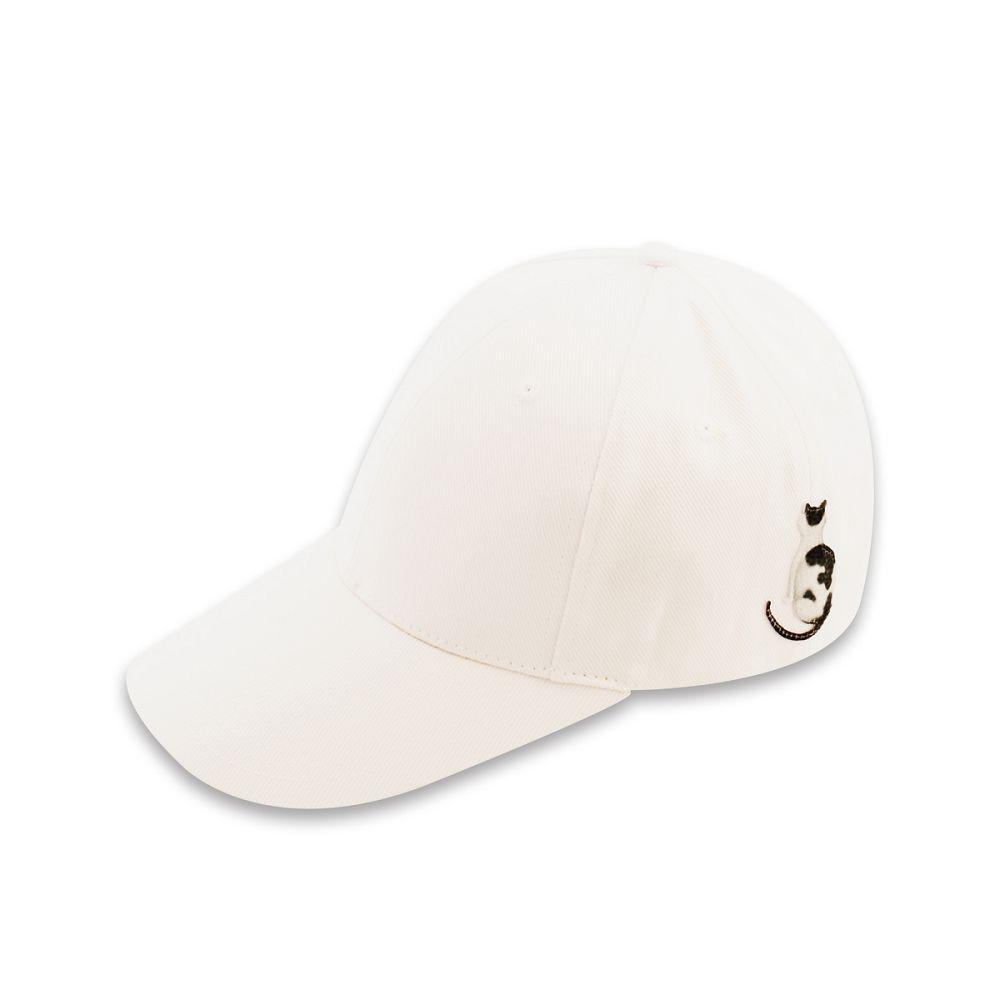故宮精品|耄耋同春蓮花棒球帽-白