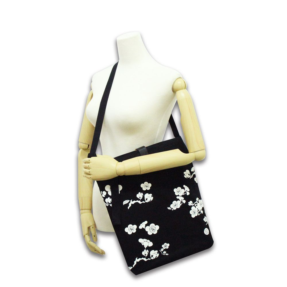 故宮精品|紋飾竹節帆布袋(黑色)