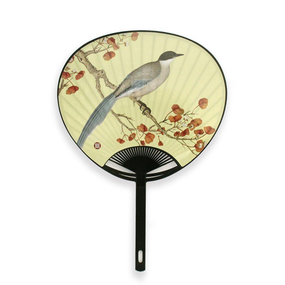 故宮精品|花舞扇-山喜鵲