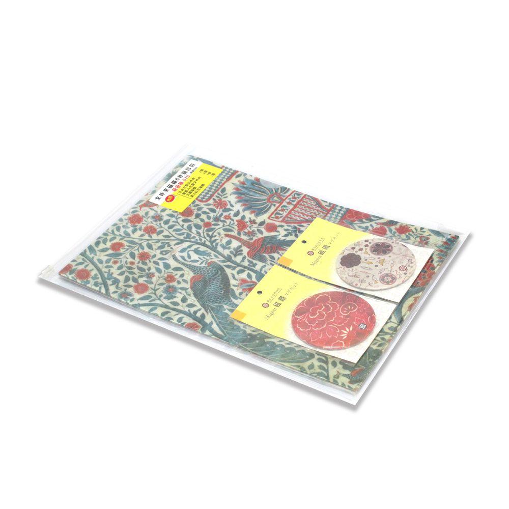 故宮精品 文件夾磁鐵6件組合包
