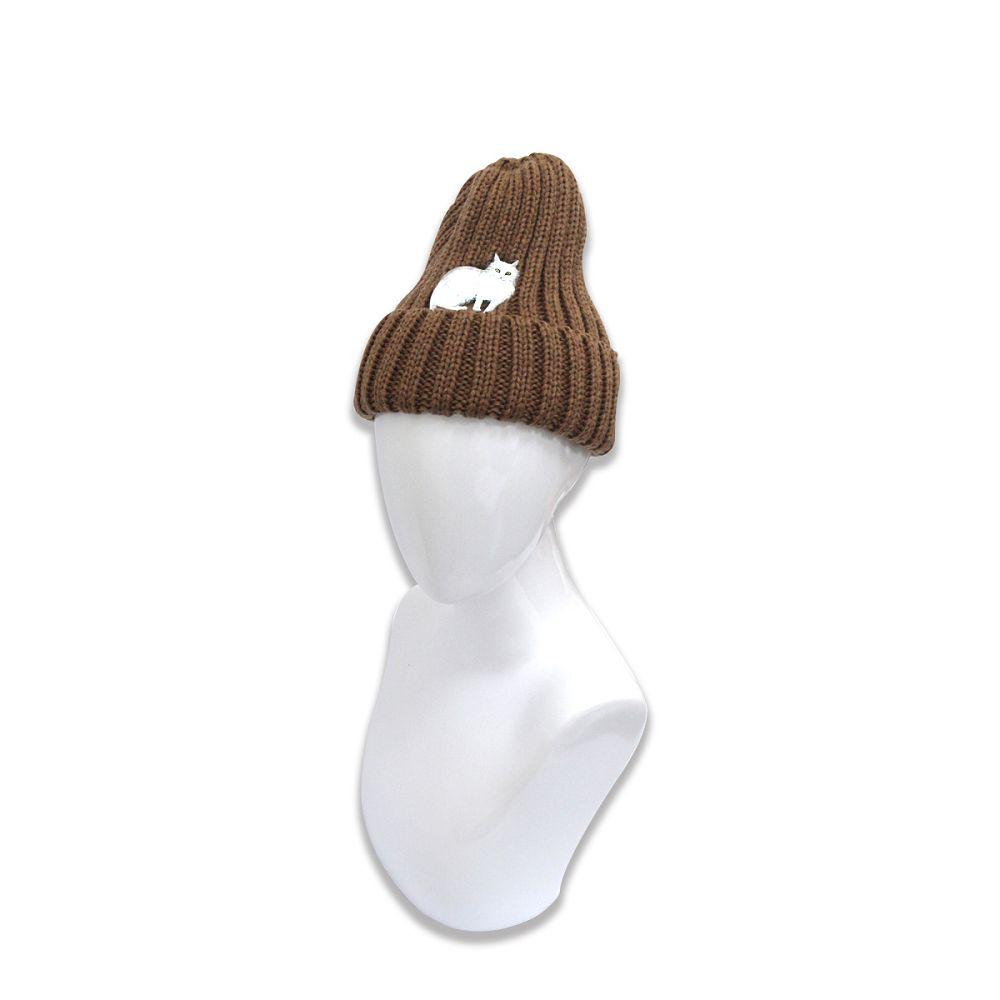 故宮精品|耄耋同春菊葵毛帽-棕