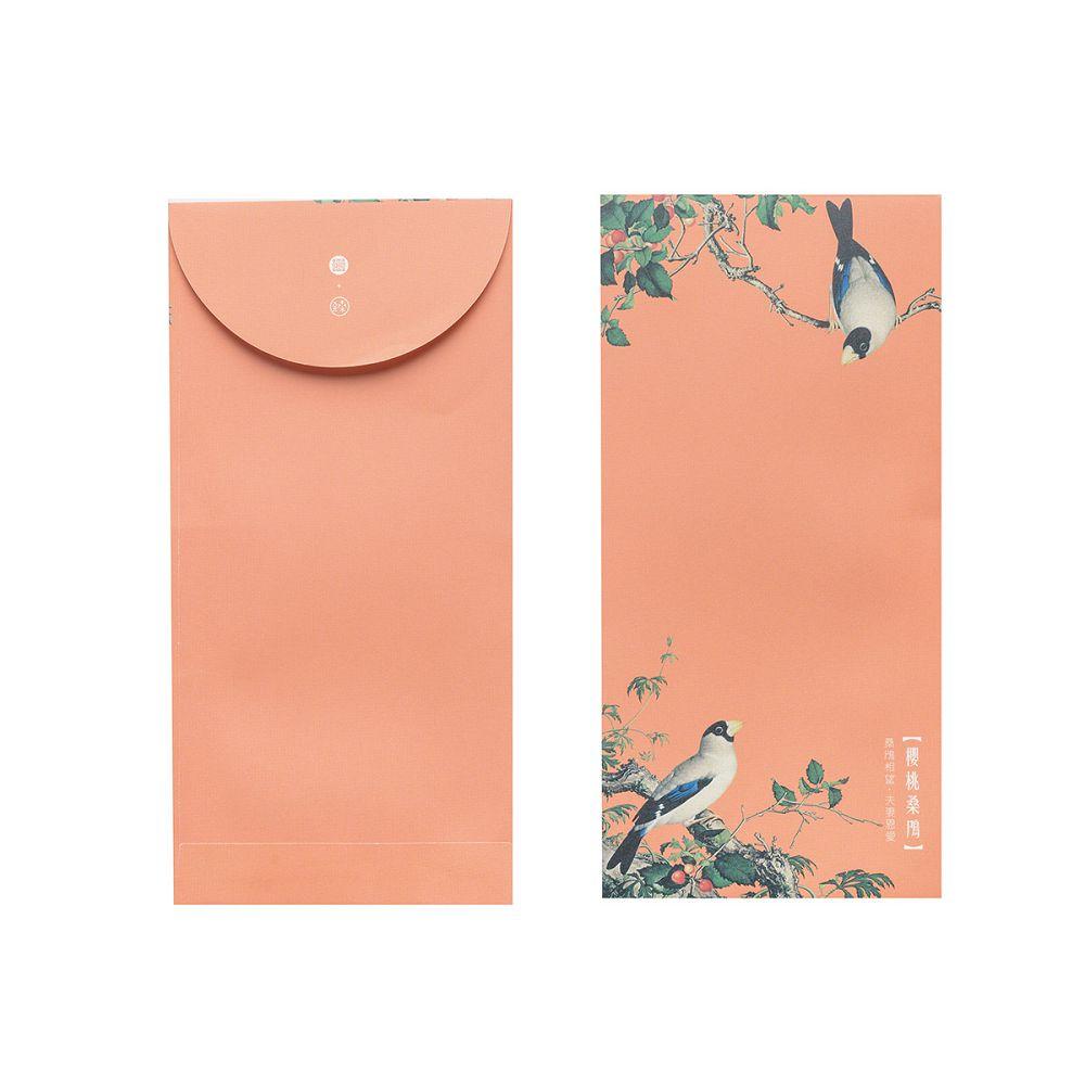 故宮精品 仙萼長春·櫻桃桑鳲 萬用袋(單色6入)