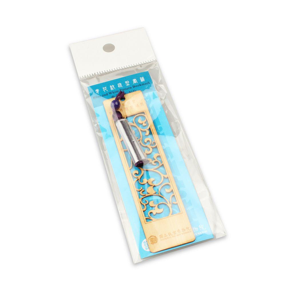 故宮精品 | 青花紋造型書籤 (竹)