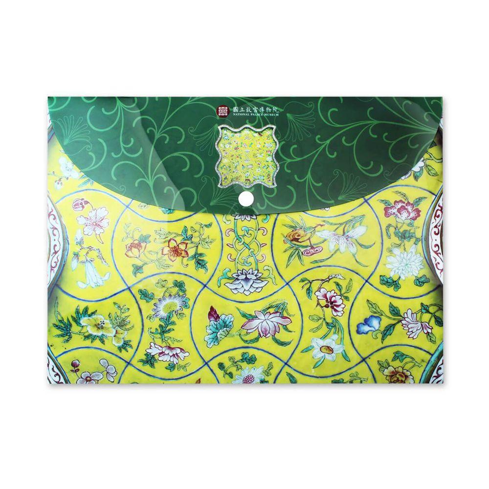 故宮精品   花卉方盤資料袋